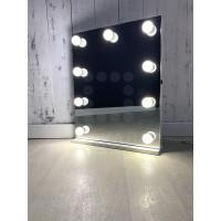 Гримерное зеркало без рамы 60х50 с подсветкой LED лампочками